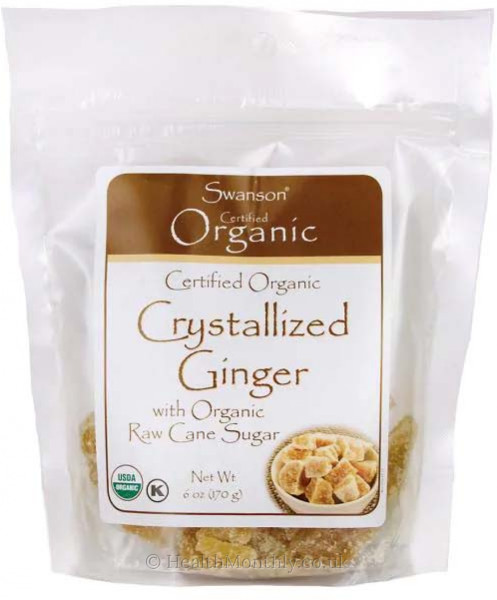 Swanson Certified Organic Crystallized Ginger