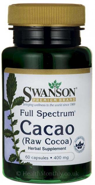 Swanson Full Spectrum® Cacao, Raw Cocoa