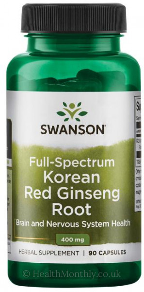 Swanson Full Spectrum® Korean Red Ginseng Root