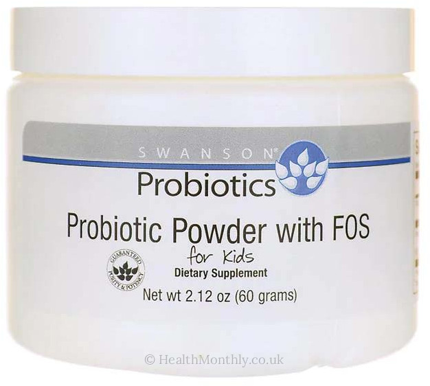 Swanson Probiotics, Probiotic Powder with FOS for Kids