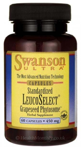 Swanson Ultra Standardised, LeucoSelect® Grapeseed Phytosome™