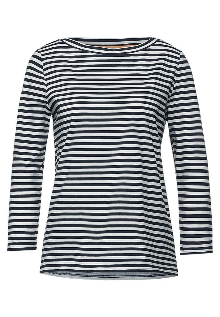 LTD QR printed stripe shirt