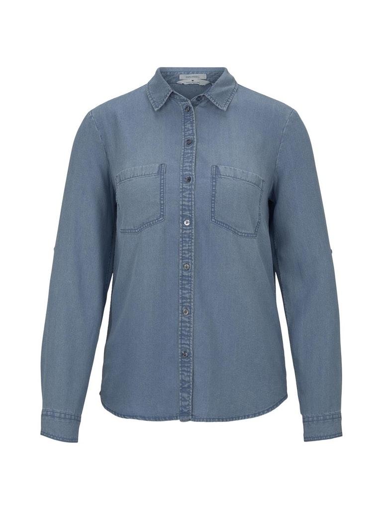 denim tencel blouse