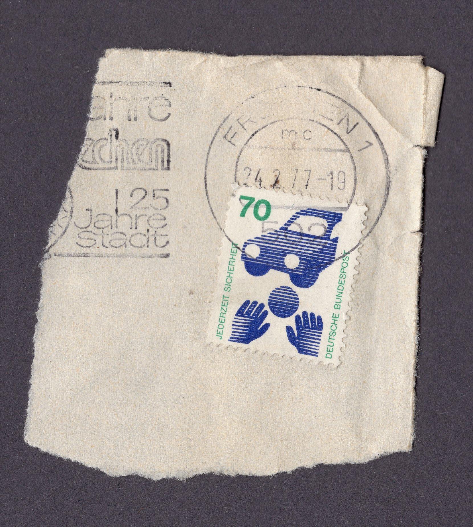 jederzeit sicherheit 70pfennig philately postage stamps