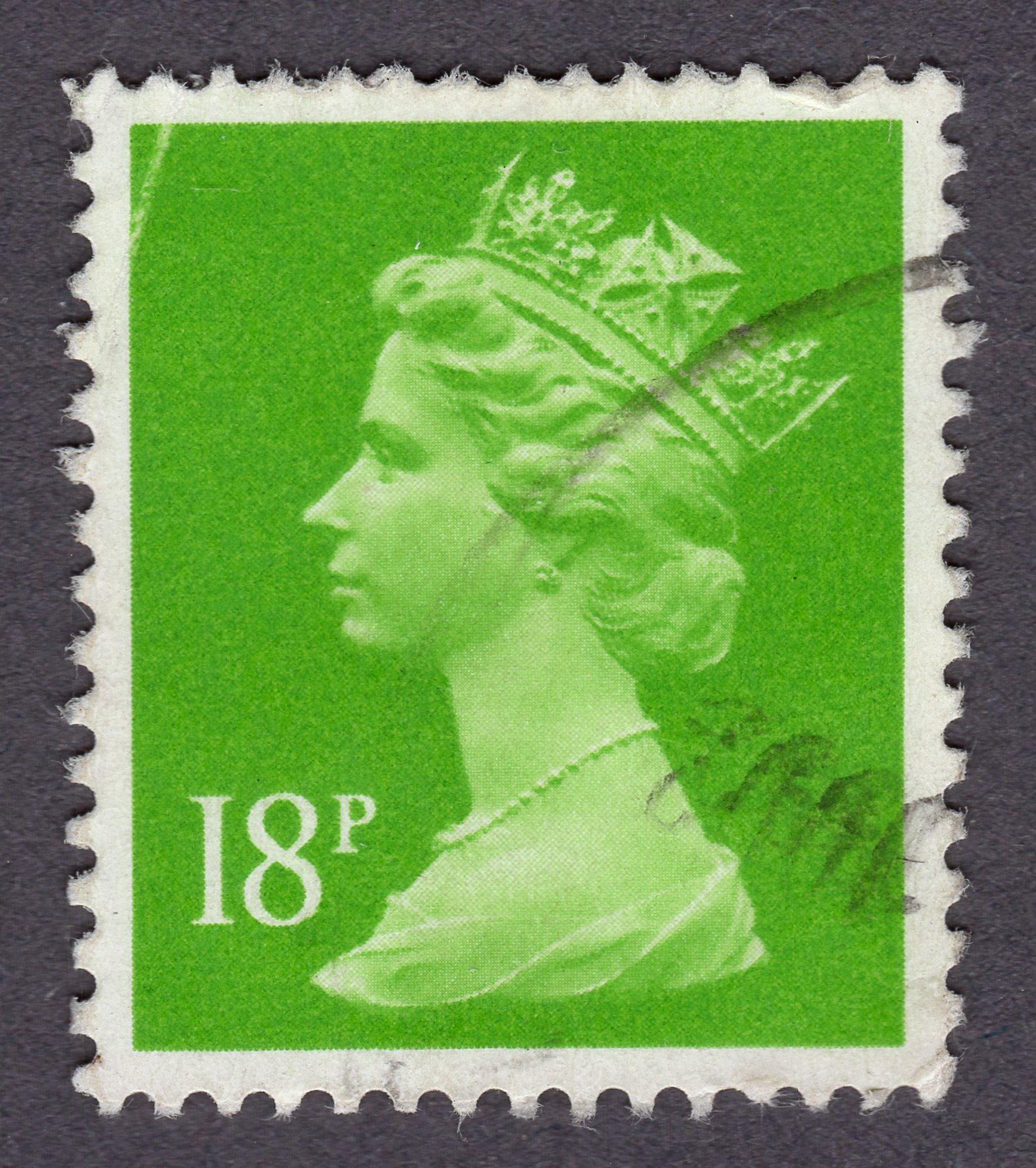 queen elizabeth ii, 18 pence philately revenue stamps