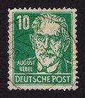 Deutsche Post, August Bebel, DDR Stamp, 1952