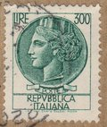 Repubblica Italiana 300 Lire Stamp