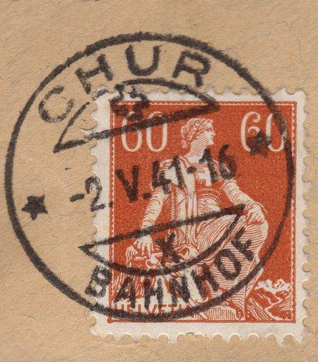 Helvetia, 60 Ct. Stamp