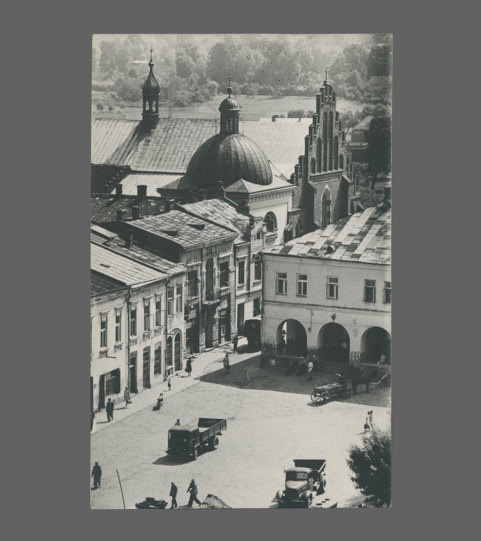 postcard – krosno, 1964 postcards vintage – real photo (rppc)