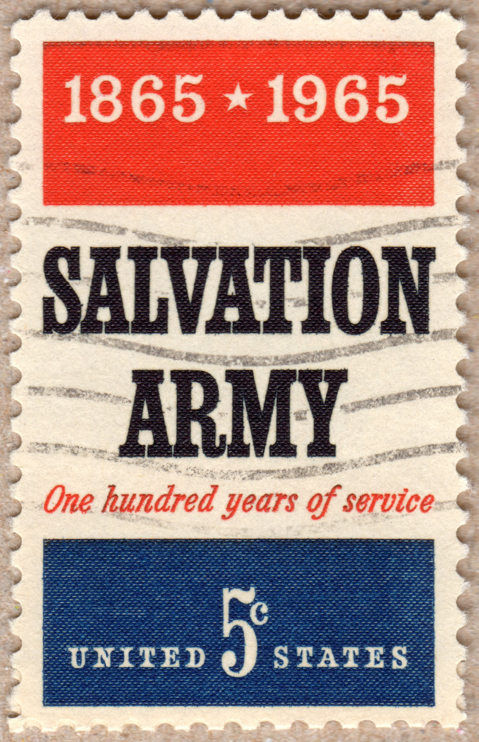 salvation army 5¢ u.s. postage stamp philately postage stamps