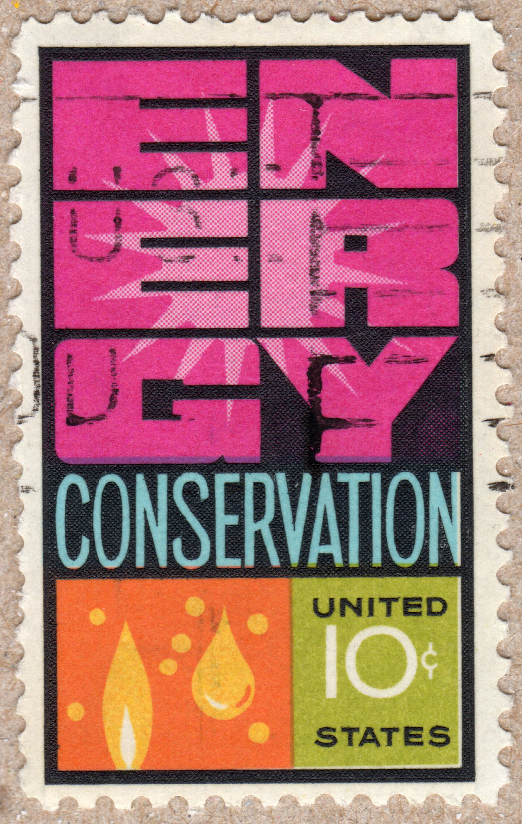 energy conservation 10¢ u.s. postage stamp philately postage stamps