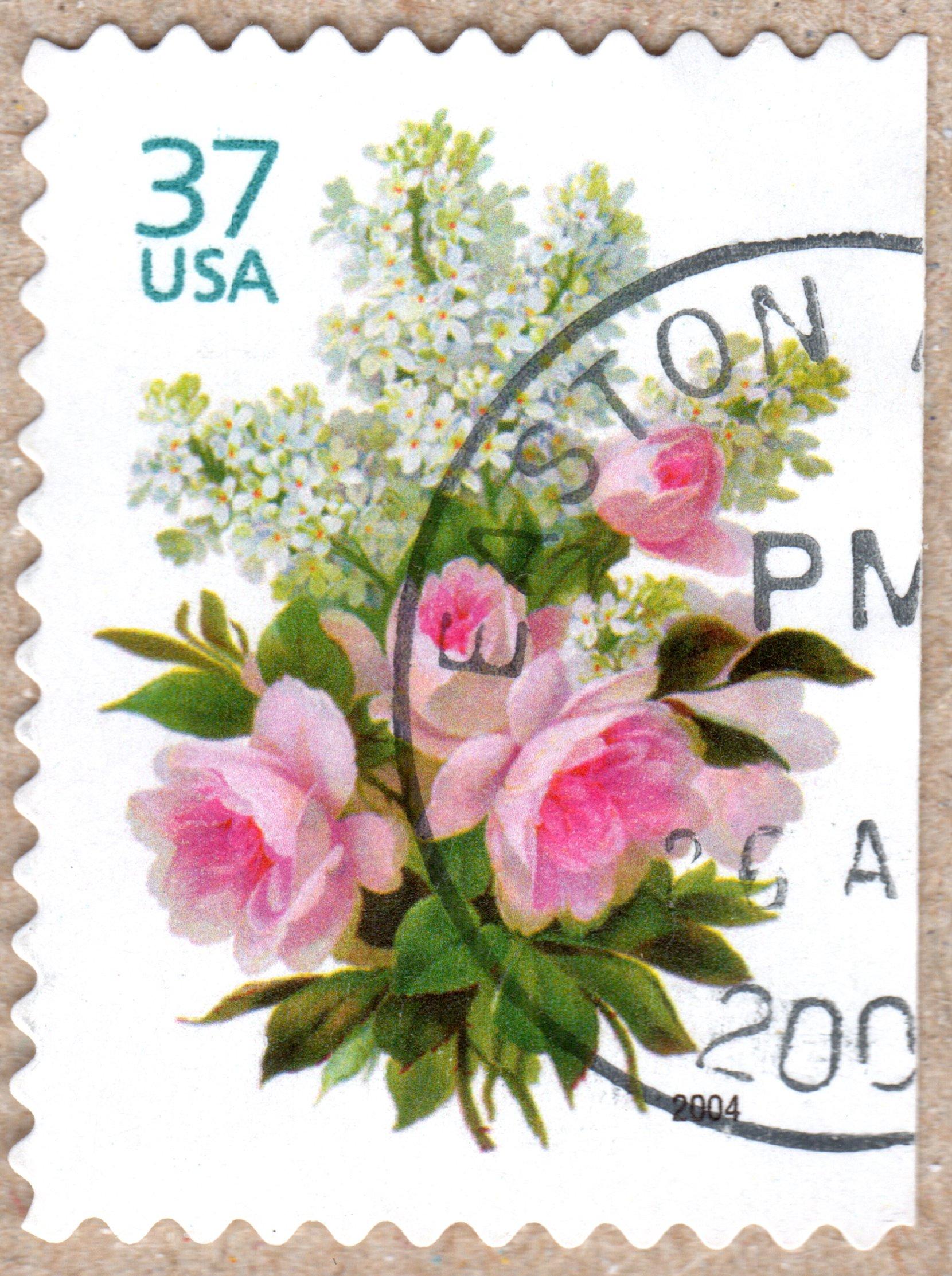 flowers usa 37 ¢ u.s. postage stamp (2004) philately postage stamps