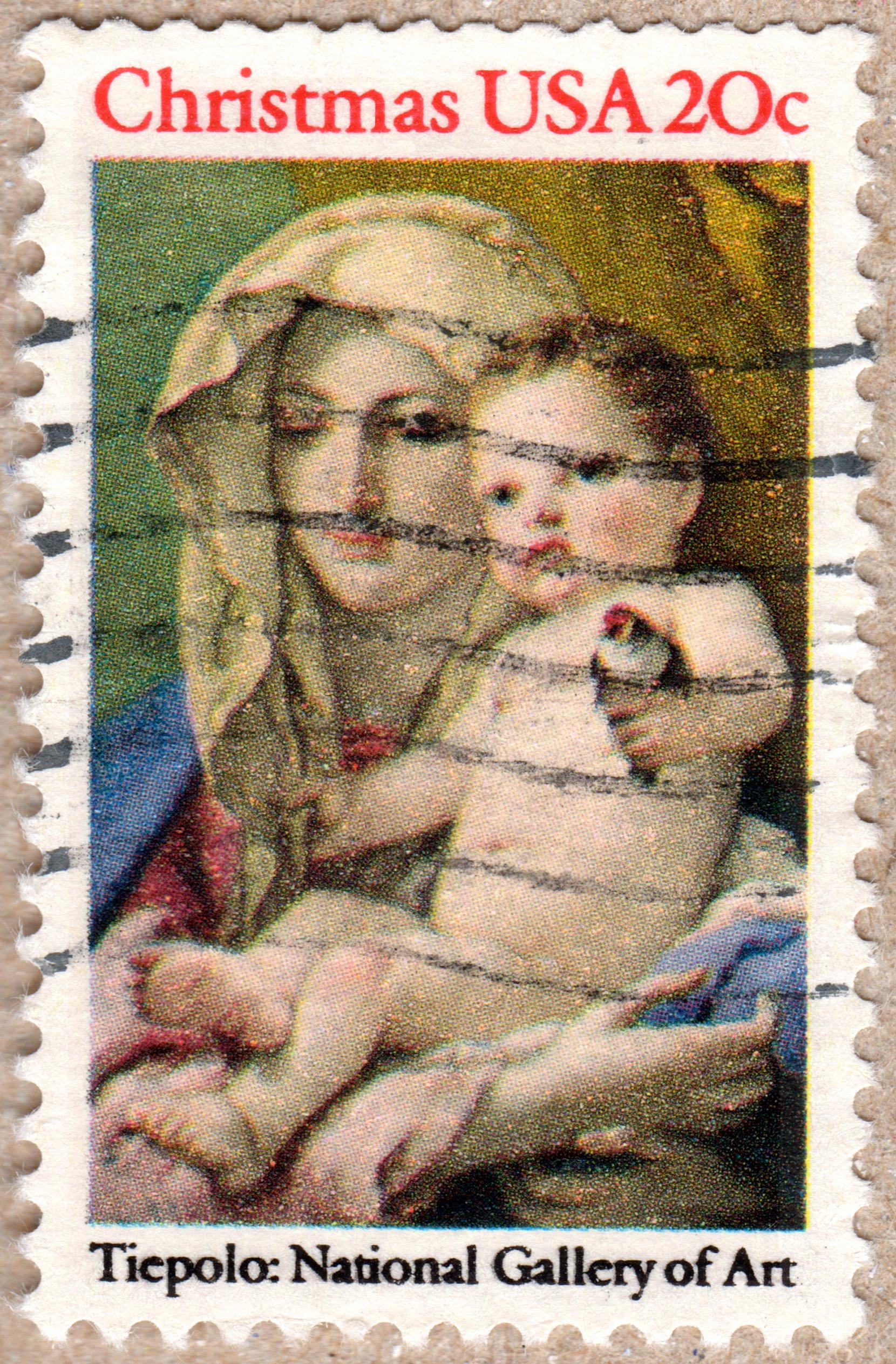christmas usa 20¢ philately postage stamps