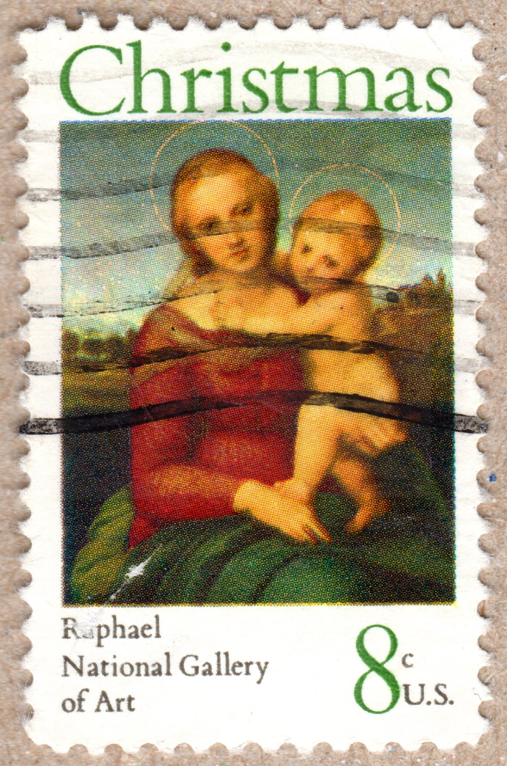 copy of christmas, raphael, u.s. 8¢ stamp philately postage stamps