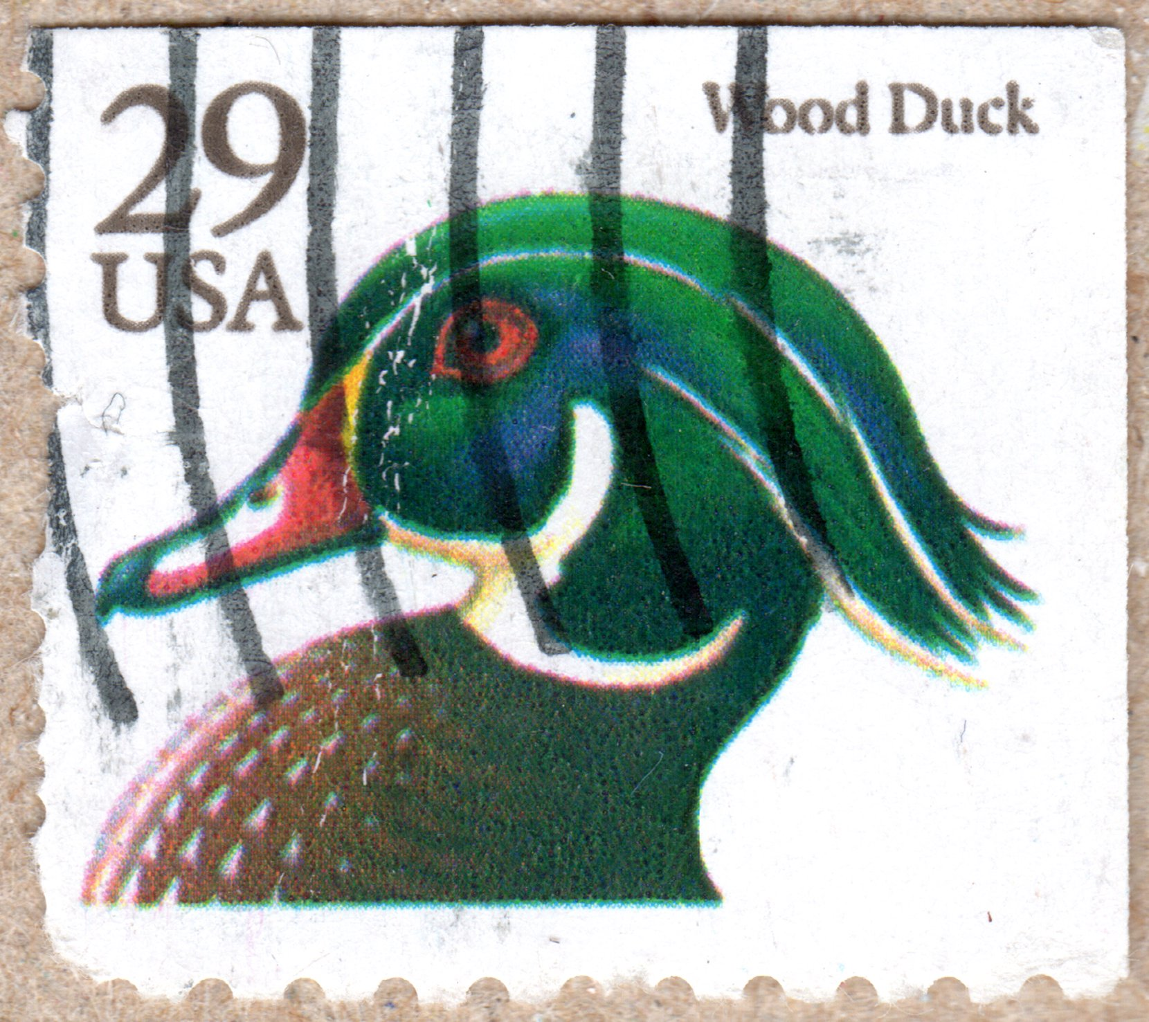 wood duck u.s. 29¢ stamp philately postage stamps