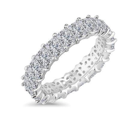 Emerald Cut Eternity Ring