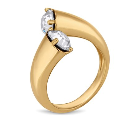 Tapered Ring in Gold Plate