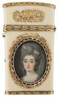 Herr in blauem Rock - Dame in lilafarbenem Kleid --  Marie Sicard, gen. Sicardi (Umkreis)