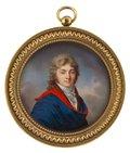 Herr mit rot-blauem Umhang -- Jean-Baptiste Jacques Augustin (Schule)