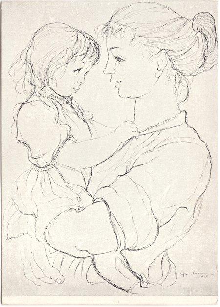 Ligia Macovei, Mamă cu copil