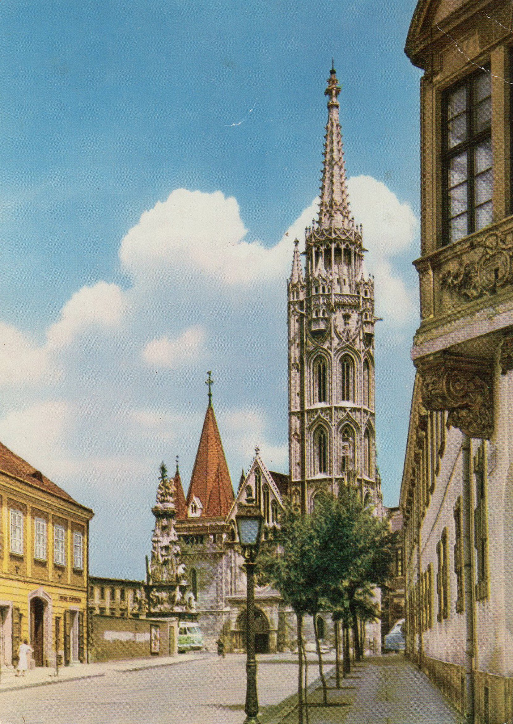 budapest (hungary) postcards standard – printed card