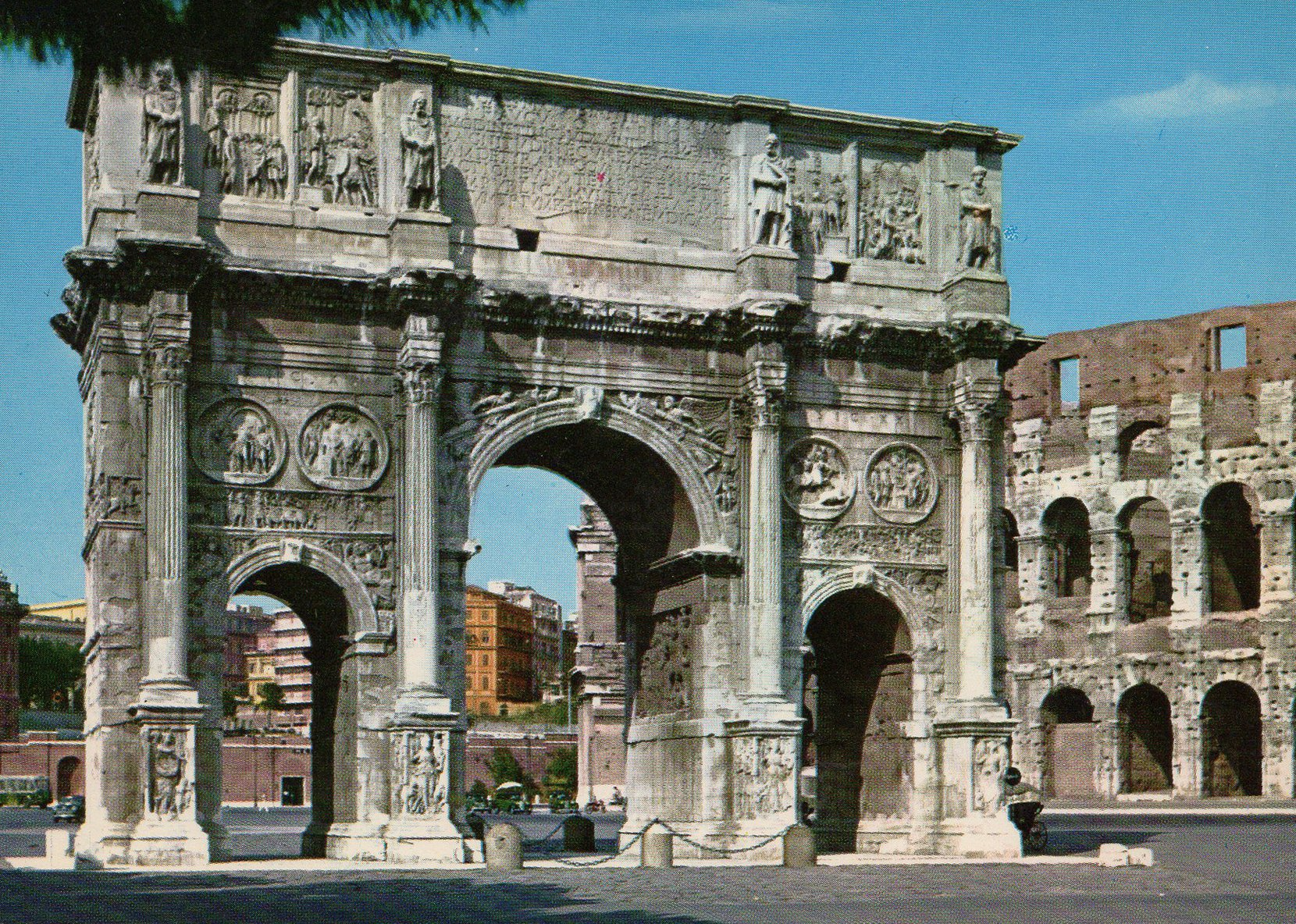 rome (italy) postcards standard – printed card