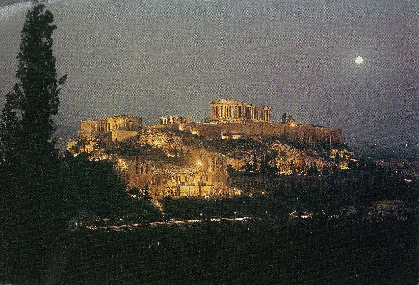 the acropolis  (athens) postcards standard – printed card