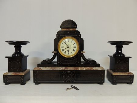 Fireplace Clock with Candelabra