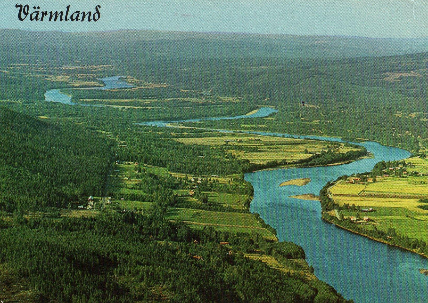 värmland (sweden) postcards standard – printed card