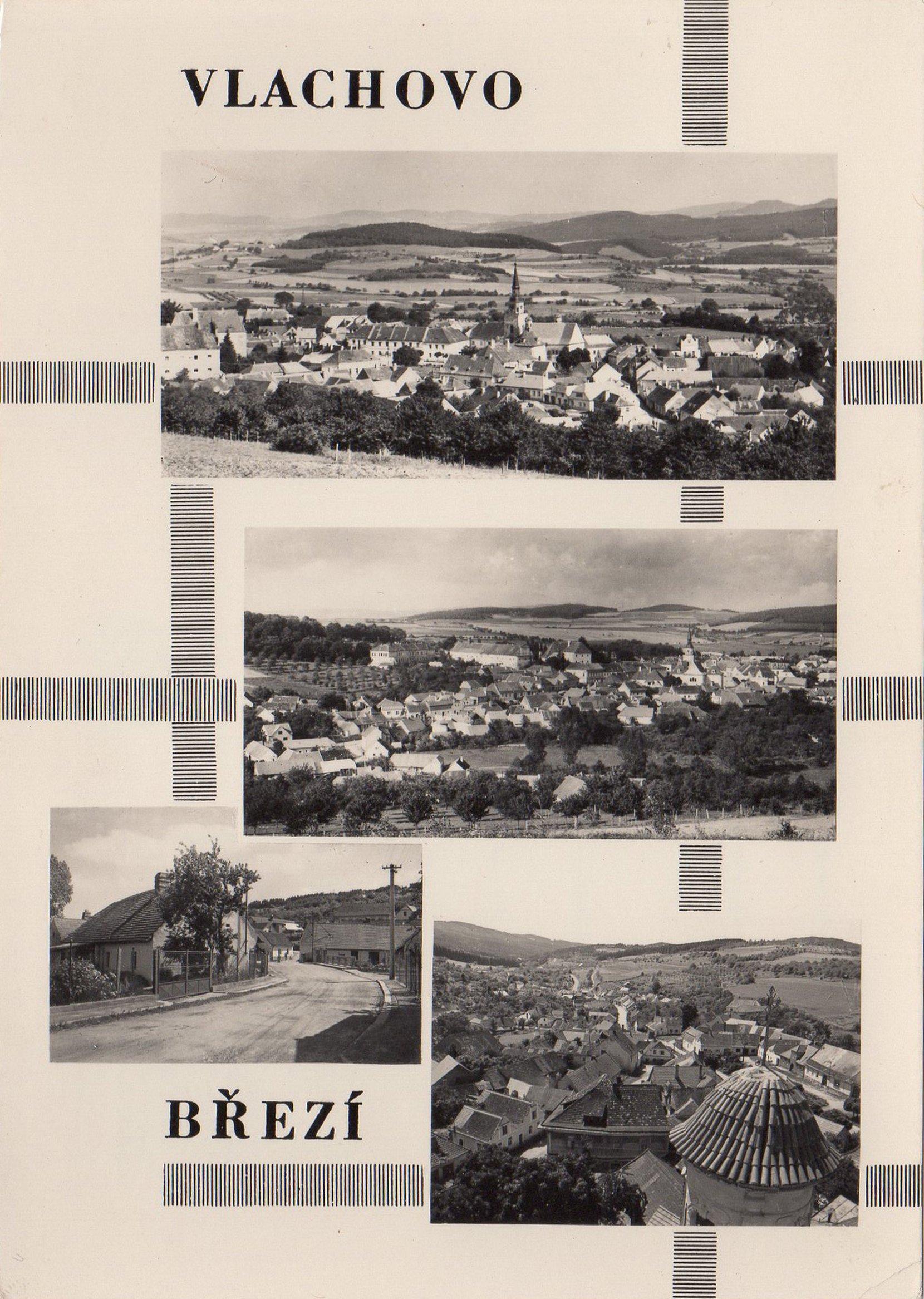 vlachovo březí (czech republic) postcards standard – printed card