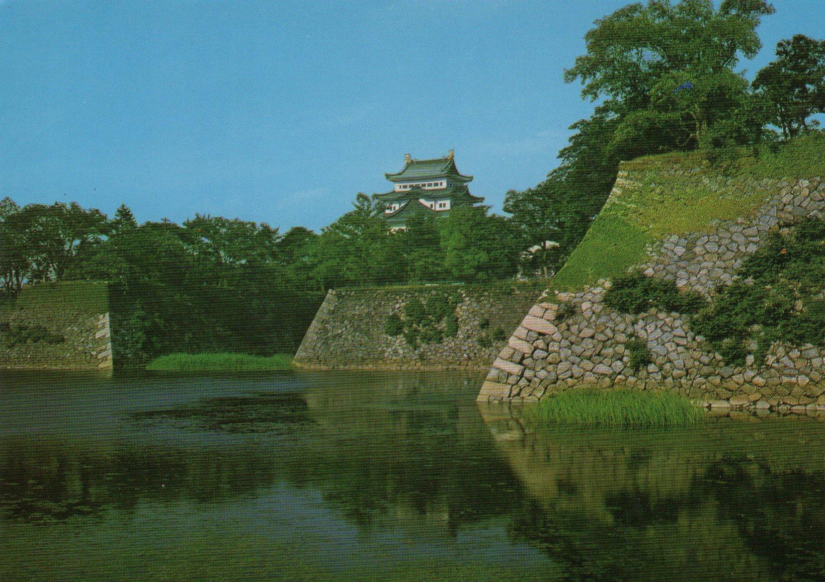 nagoya castle donjon (japan ) postcards standard – printed card