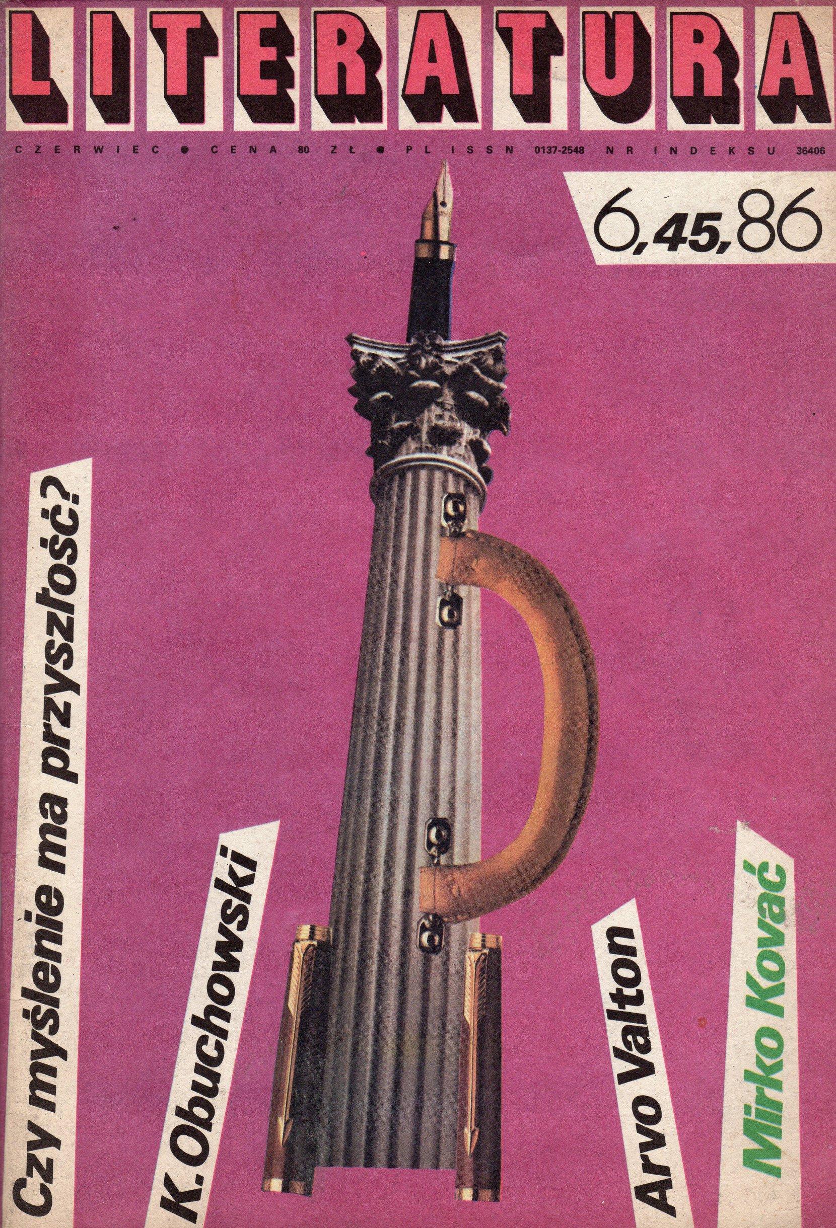 """""""literatura"""" magazine, 1986-6 periodicals art & culture"""