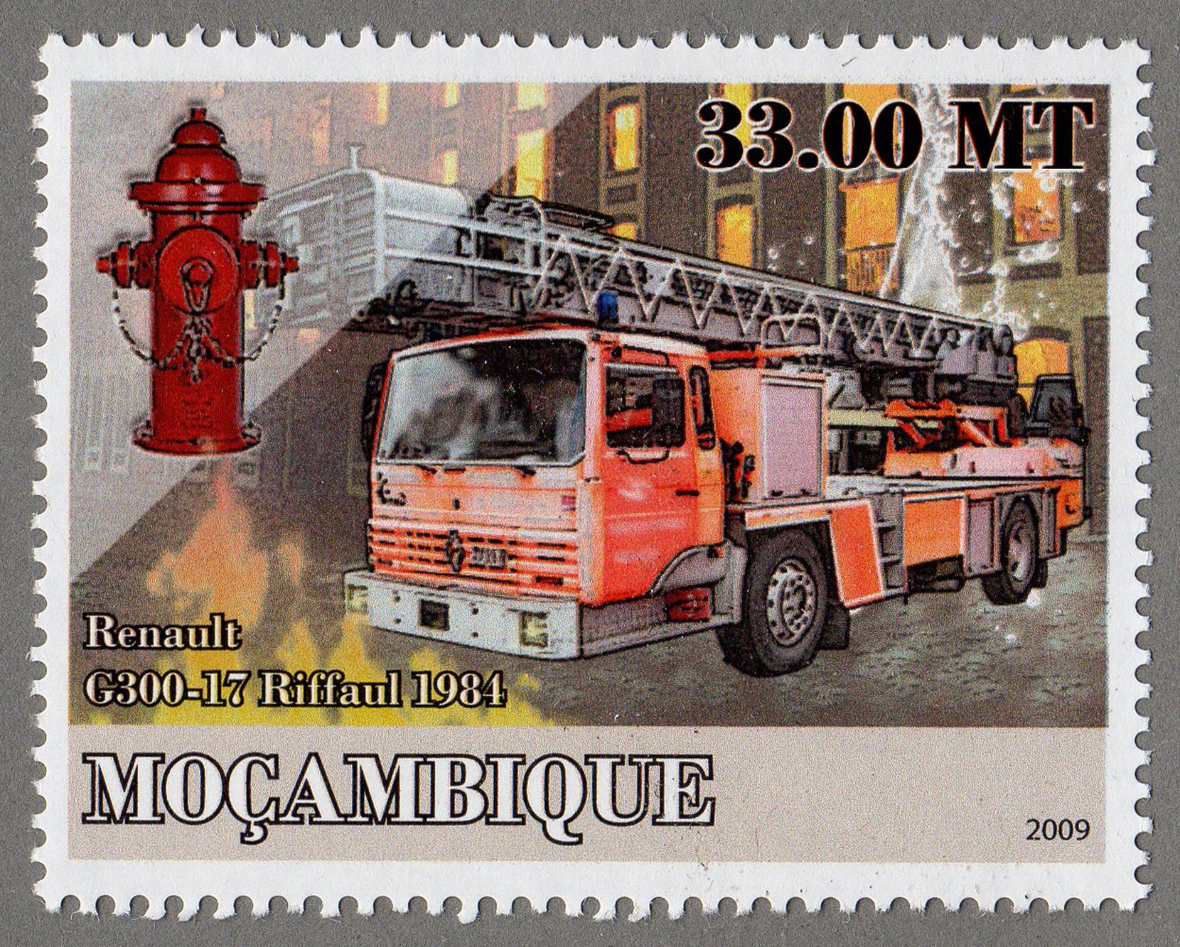 renault g300-17 riffaul 1984, 2009 stamp philately postage stamps