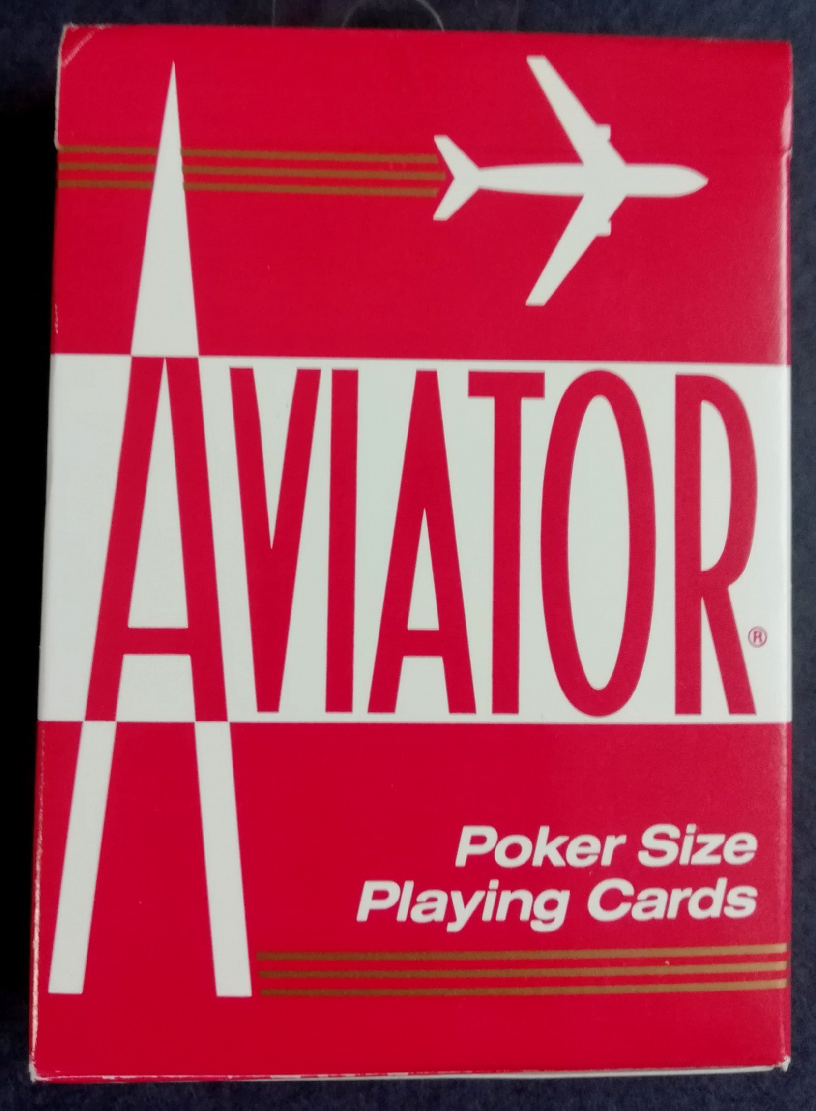 playing card deck- aviator(red) cards