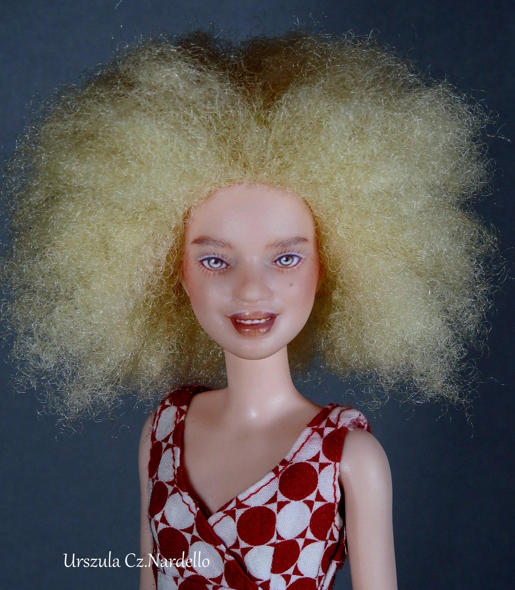 barbie albino fashionistas ooak repaint art painting