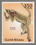 Brachyteles archnoides, 2010 Guinea-Bissau Stamp