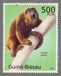 Alouatta palliata, 2010 Guinea-Bissau Stamp