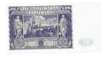 polska - 20 złotych, 1936r. unc numismatics banknotes