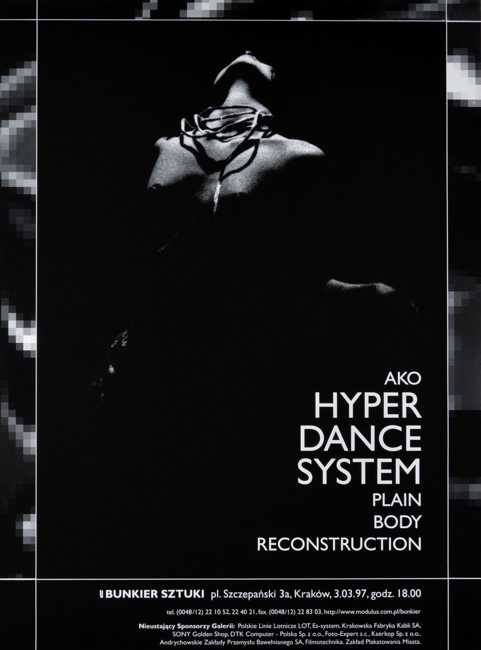 hyper dance system, modulus, 1997 posters art posters MODULUS.agency, Ziemowit Kościelny, Mikołaj Dunikowski