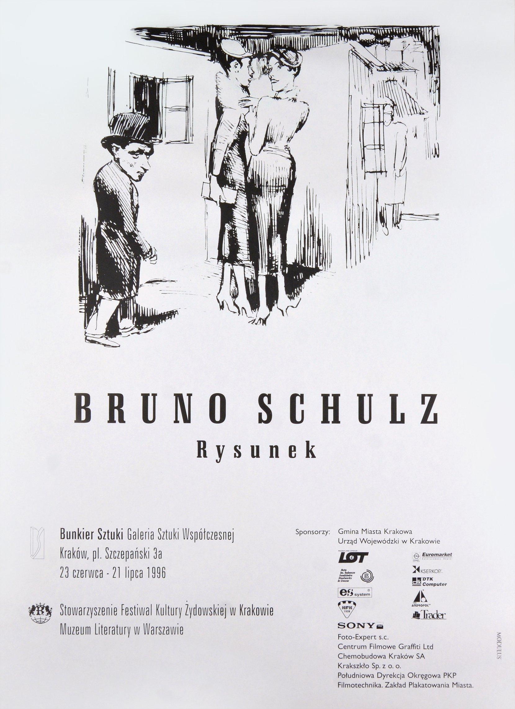 bruno schulz, rysunek, 1996 posters art posters MODULUS.agency