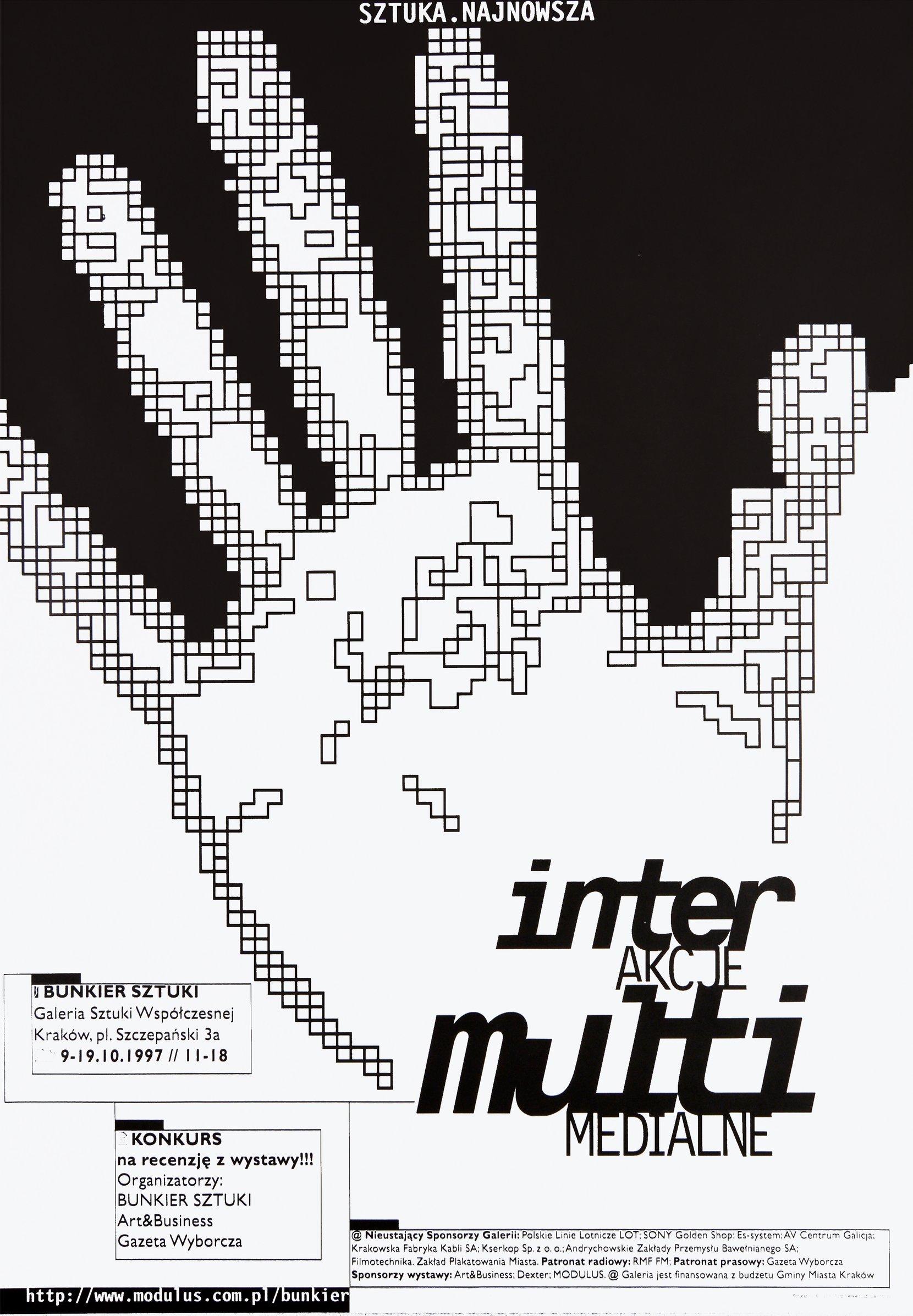 interakcje multimedialne, 1997 posters art posters MODULUS.agency