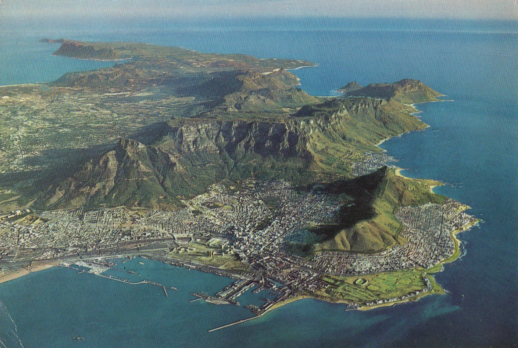 kaapse skiereiland, cape town (south africa) postcards standard – printed card