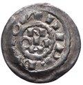 Milano - Enrico II di Sassonia (1004-1024) Denaro Scodellato - D/ IMPERATOR Nel campo H RIC N. ; R/ AVC MED IOLA NIM nel campo. MIR 44 - Ag gr.1,21