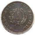 Regno di Napoli - Gioacchino Napoleone Murat (1808-1815) 1 Lira 1812 - RR MOLTO RARA - Mir.443 - Ag gr.4,90