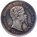 Regno di Sardegna - Vittorio Emanuele II (1849-1861) 50 Centesimi 1861 Milano - R4 ESTREMAMENTE RARA - Ag