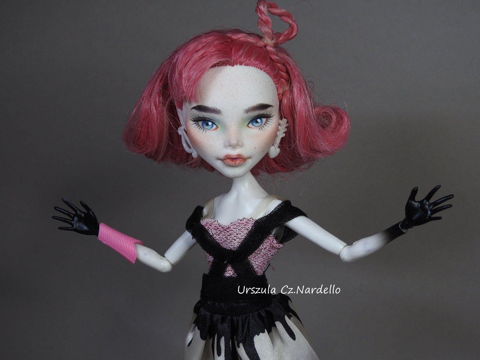 cupid -monster high repaint ooak doll art painting