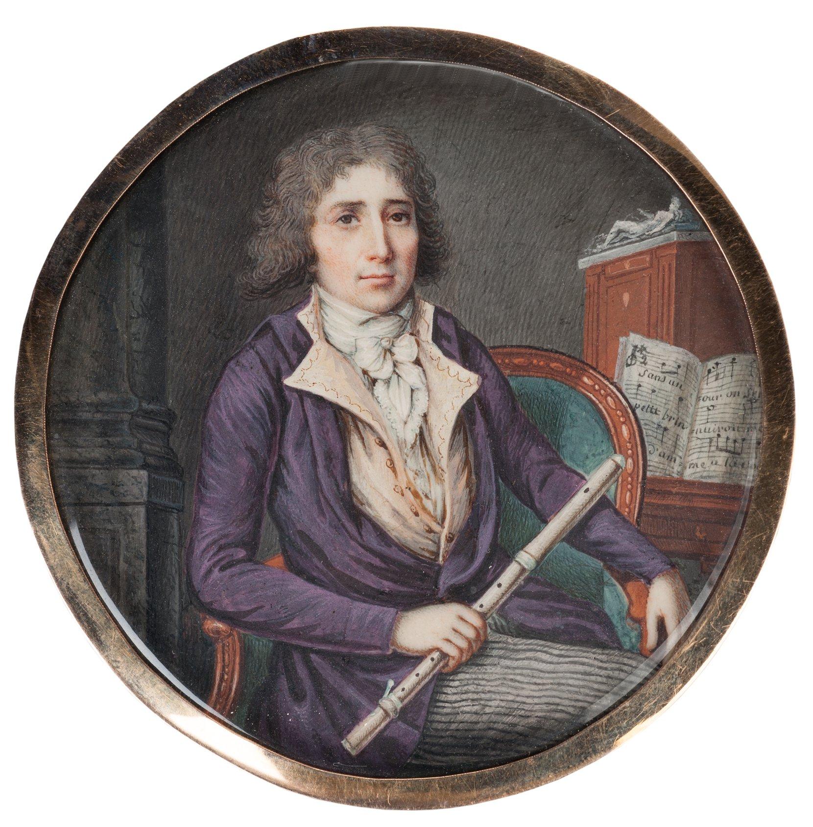 portrait of a flautist -- coer art painting
