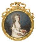 Lady with Flower Basket -- Ignazio Pio Vittoriano Campana