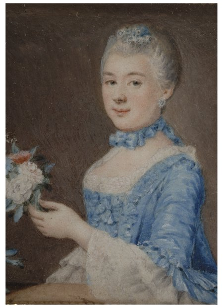 lady with bunch of flowers -- daniel bruyninx art painting