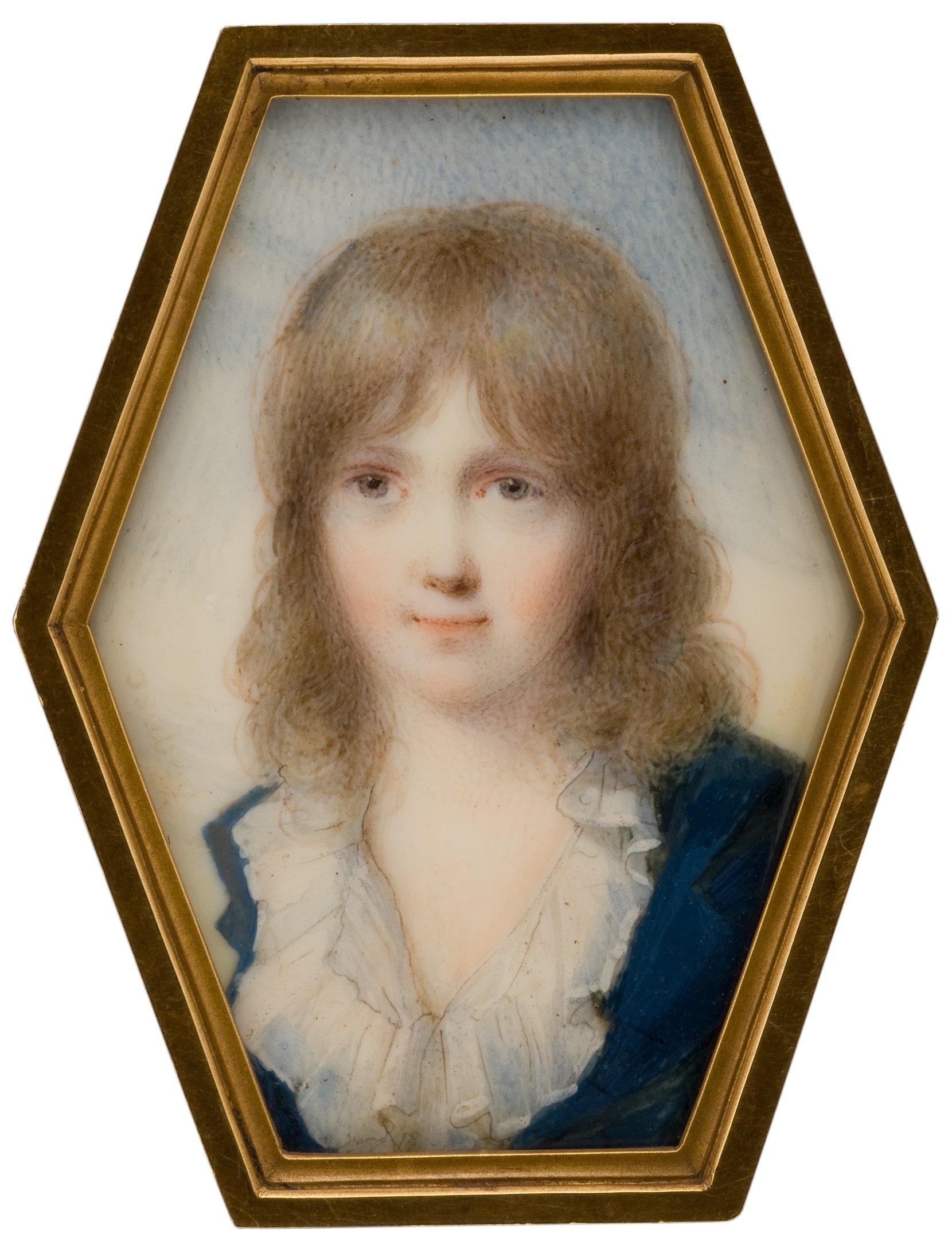 boy in a blue coat -- jean-baptiste isabey art painting